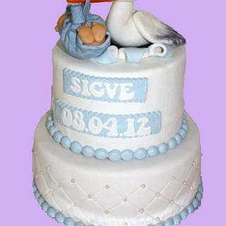 Baby Shower/ Baptism - Cake by Janne