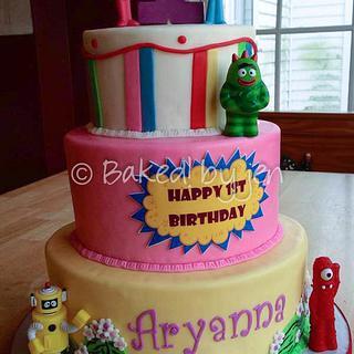 Yo Gabba Gabba 1st Birthday Cake