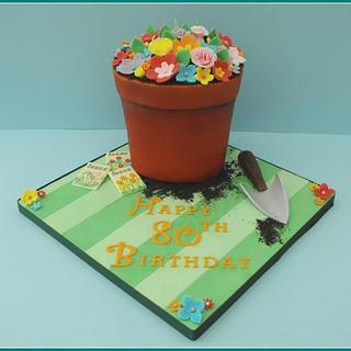 Flowerpot Cake - Cake by Gill W