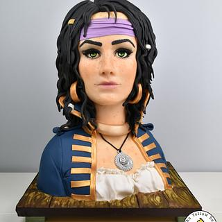Sugar Pirates Collaboration - Rosa - Cake by Yellow Bee Sugar Art by Vicky Teather