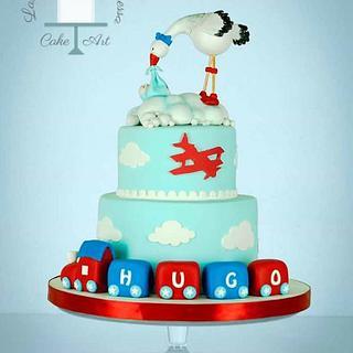 stork cake - Cake by Vanessa Rodríguez