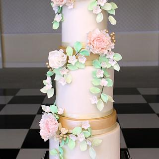 Oriental Spring Blossom Wedding Cake