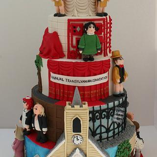 Rocky Horror Sugar Show 5 tier cake
