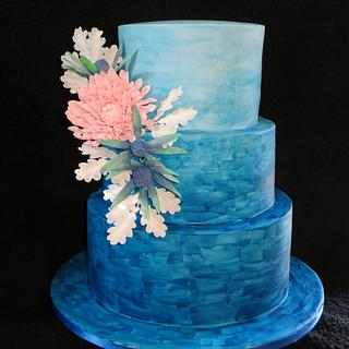 Ombre watercolour cake
