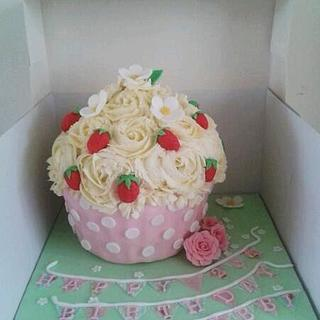 Cath Kidston inspired Giant Cupcake