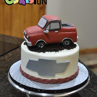 Chevy Truck Grooms Cake