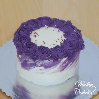 Creamy purple cake