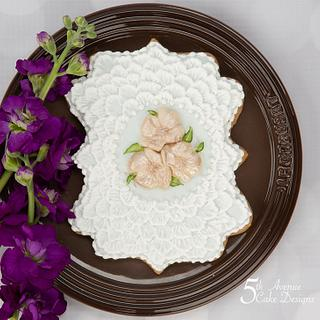 Shabby Chic Brush Embroidery Cookie 🌷🌺💕