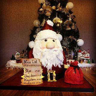 Father Christmas  - Cake by lorraine mcgarry