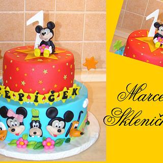 mickey mouse cake - Cake by MarcelkaS