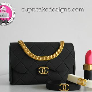 Chanel fondant cake toppers