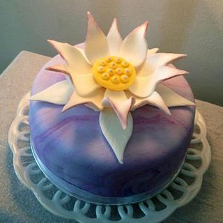 Lotus Checkerboard Inside cake