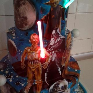 STAR WARS LIGHTSABRE CAKE