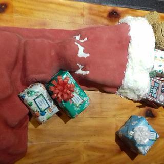 Christmas stocking - Cake by TheCakemanDulwich