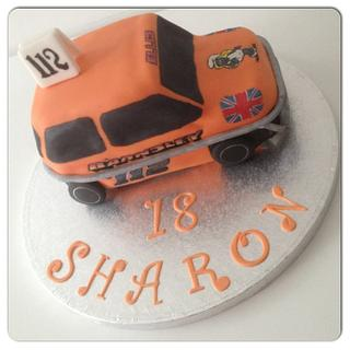 Mini Stock Car Cake