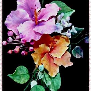 hibiscus - Cake by Catalina Anghel azúcar'arte
