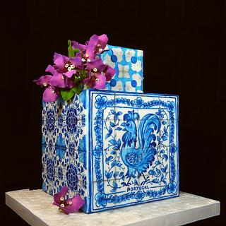 PORTUGUESE AZULEJOS AND BOUGANVILLES