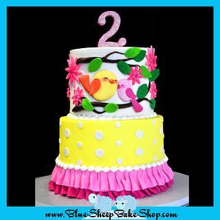 Sweet Tweets 2nd Birthday Cake - Cake by Karin Giamella