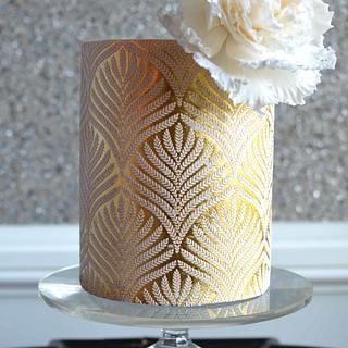 Gold Leaf Cake