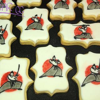 Aïkido icing cookies