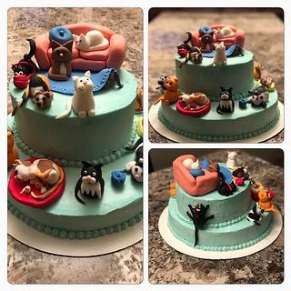 Fabulous Crazy Cat Lady 10 Cakes Cakesdecor Funny Birthday Cards Online Elaedamsfinfo