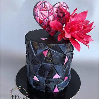 Black love  - Cake by Branka Vukcevic