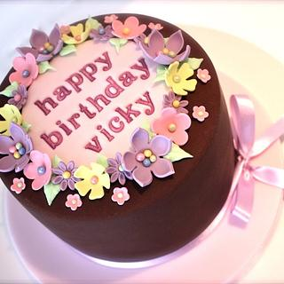 Girly Chocolate Birthday Cake - Cake by ConsumedbyCake