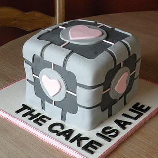 companion cube - Cake by Dani Johnson
