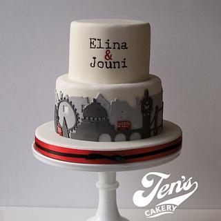London skyline - Cake by Jen's Cakery