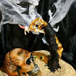 Skul cake 3D Halloween