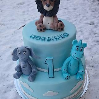 Birthday cake for boy