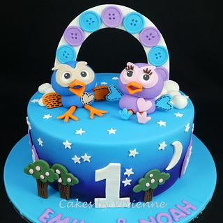 Hoot and Hooterbell Birthday Cake - Cake by Cakes by Vivienne