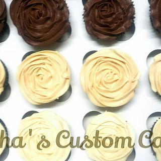 Yummy rose swirl cupcakes