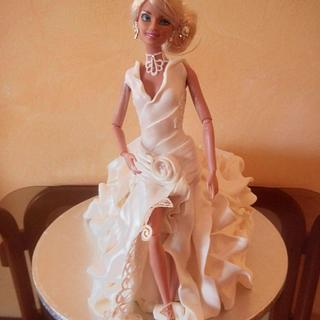 doll in wedding dress