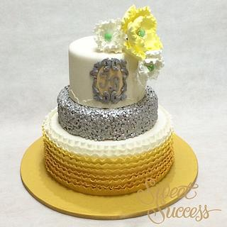 Ruffles & Sequins Cake - Cake by Sweet Success