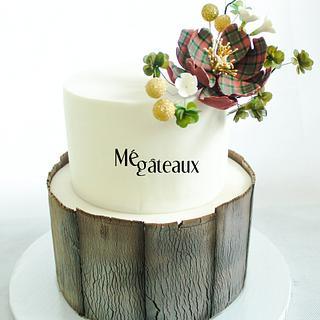chic christmas cake