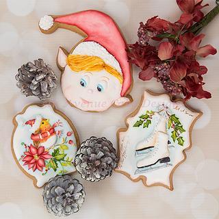 Holiday Cookie Exchange Cookies 🎁⛸️🕊️