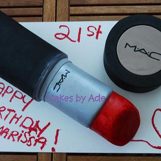 21st Birthday MAC makeup - July 2013 - Cake by Cakes by Ade
