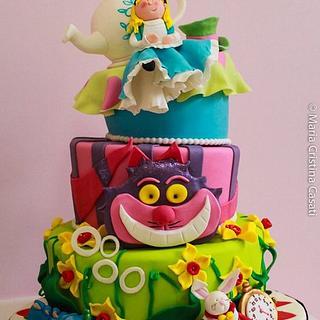 My Alice in Wonderland - Cake by ilaria pelucchi