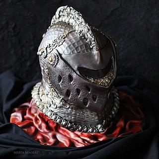 Knight's Helmet Cake by Maria Magrat