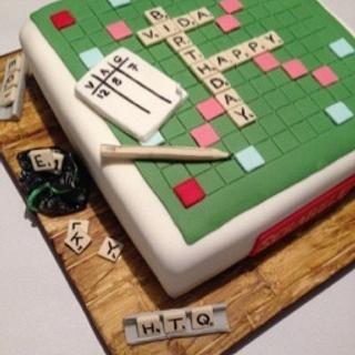 Scrabble Cake - Cake by Domino Cakes