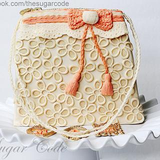 Fabric Inspired Handbag Cake