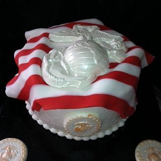 USMC Birthday - Cake by monica