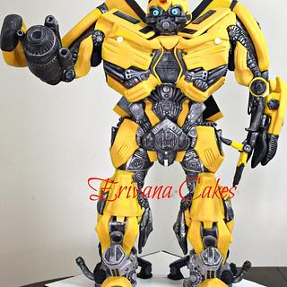 Gravity Defying Bumblebee Transformer Cake
