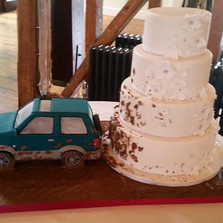 Wedding Cake and Car