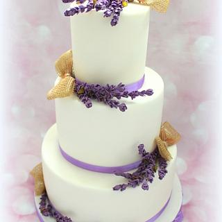 Wedding cake - lavender