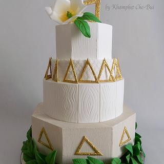Wedding Cake in Geometric Design