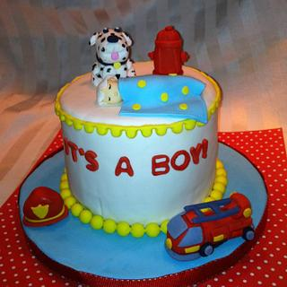 Fireman Themed Baby Shower