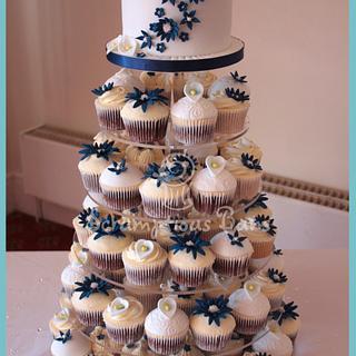 Zoe & Mark's Wedding Cupcake Tower