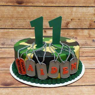 Camo Birthday Cake